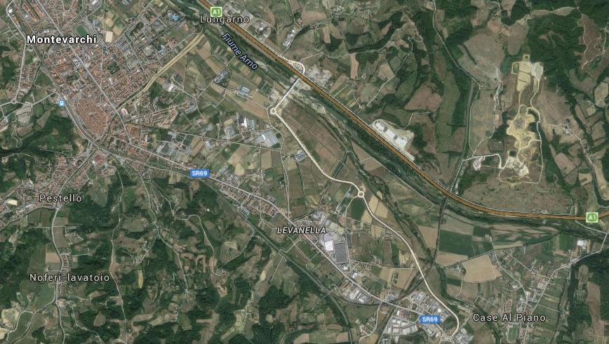 lavori La variante da Levane fin oltre l'autostrada, che poi prosegue parallela all'A1 fino al casello e dovrebbe proseguire per arrivare a Figline e Incisa