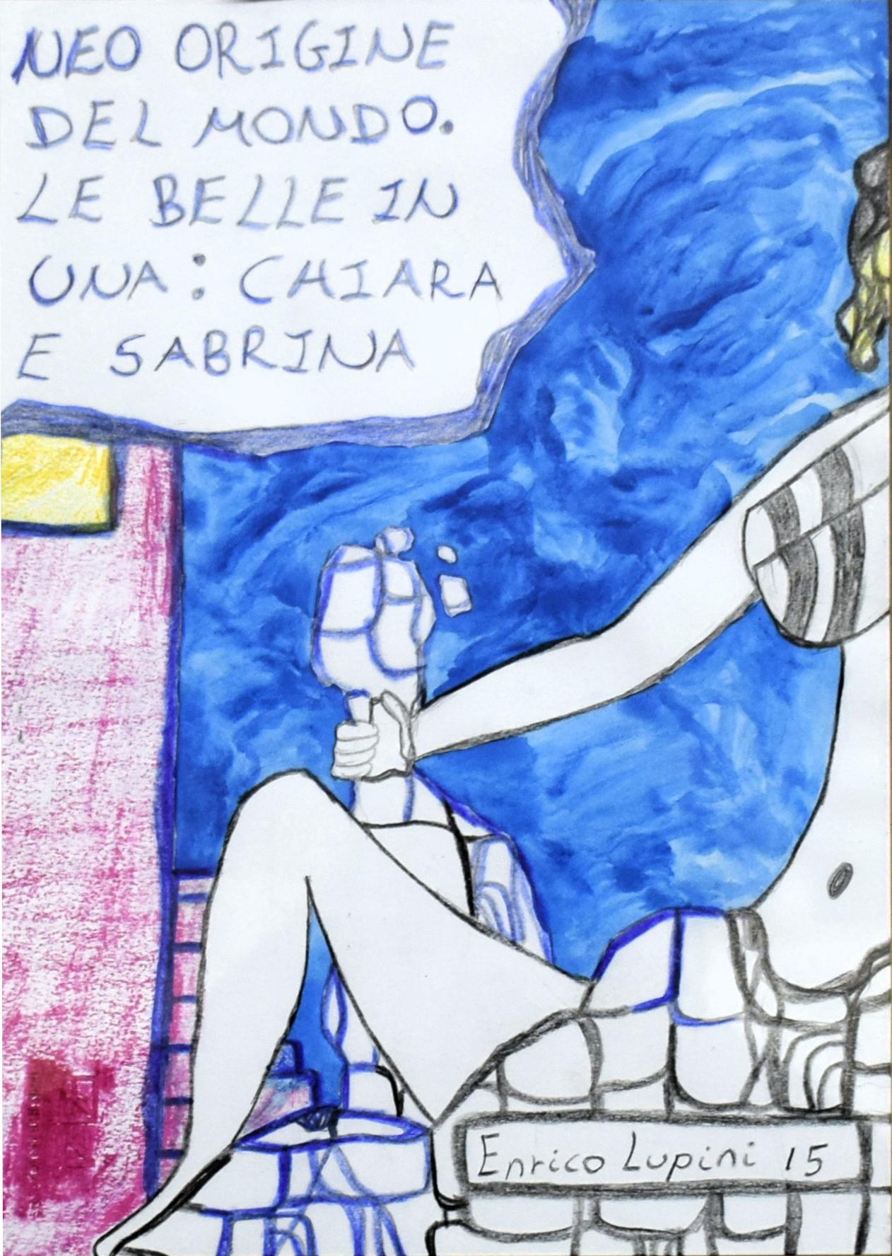 Lupini Enrico - Gualdo Tadino - Neo origine del mondo Le belle in una Chiara e Sabrina