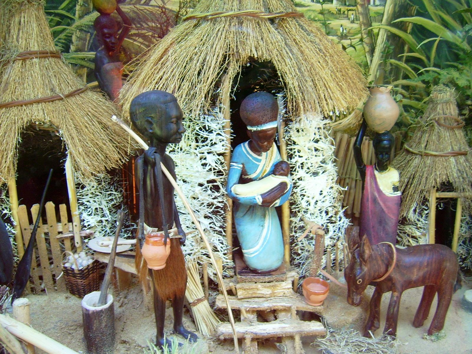 Un presepio africano Lokilech - Opera propria