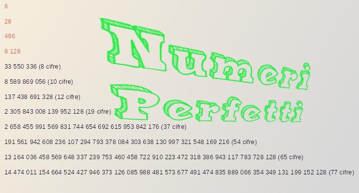 Numeri perfetti